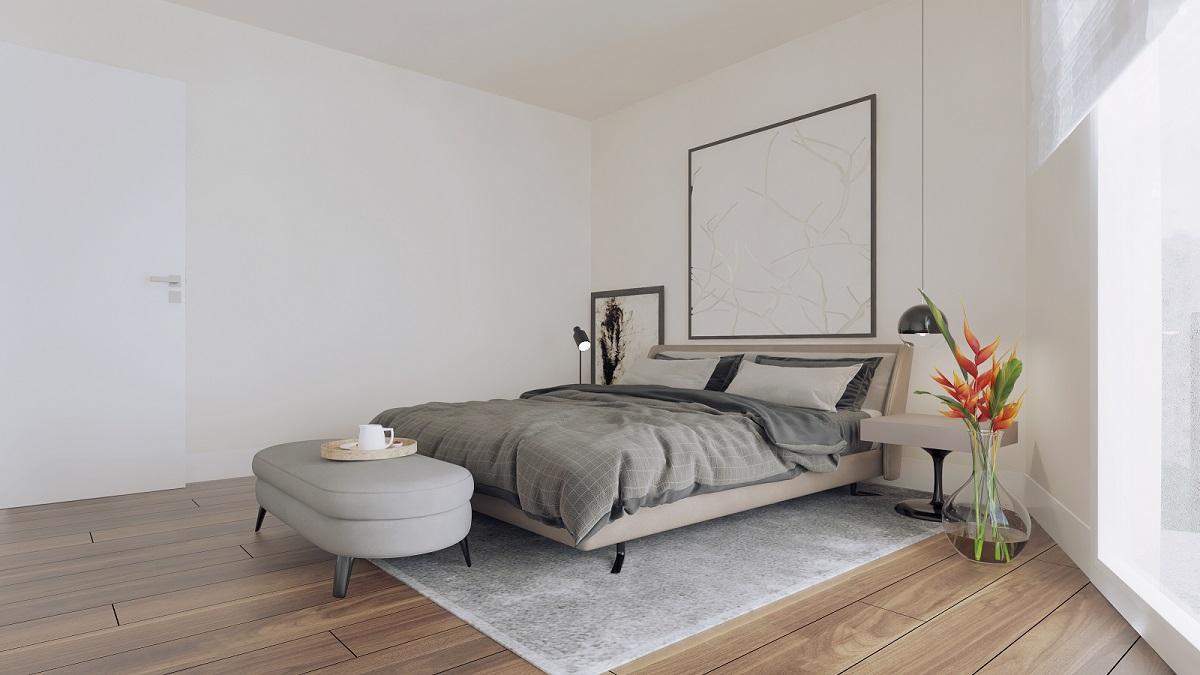 3D Schlafzimmer Attika