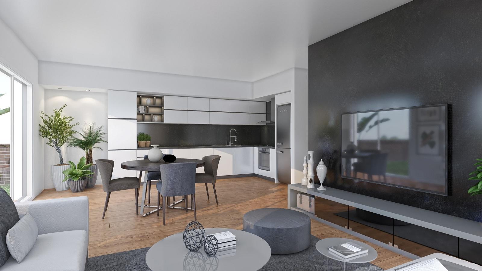 3D Wohnzimmer Neubau