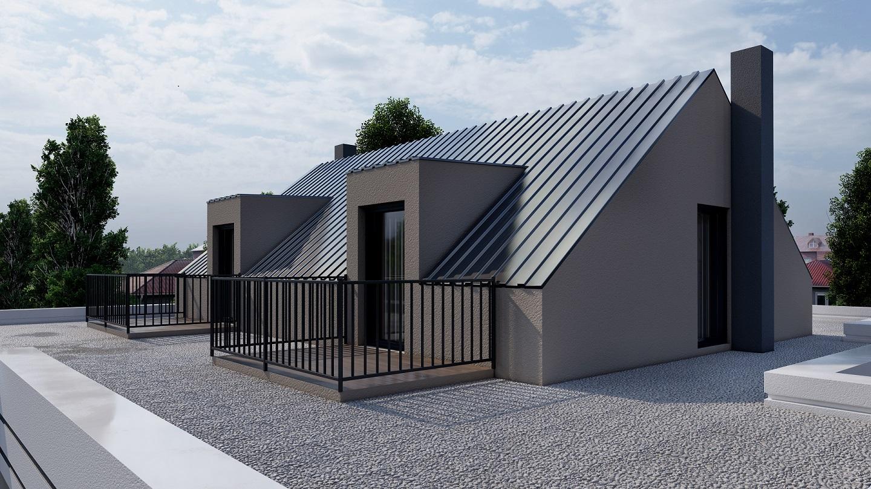 Dachgeschoss Rendering 3D