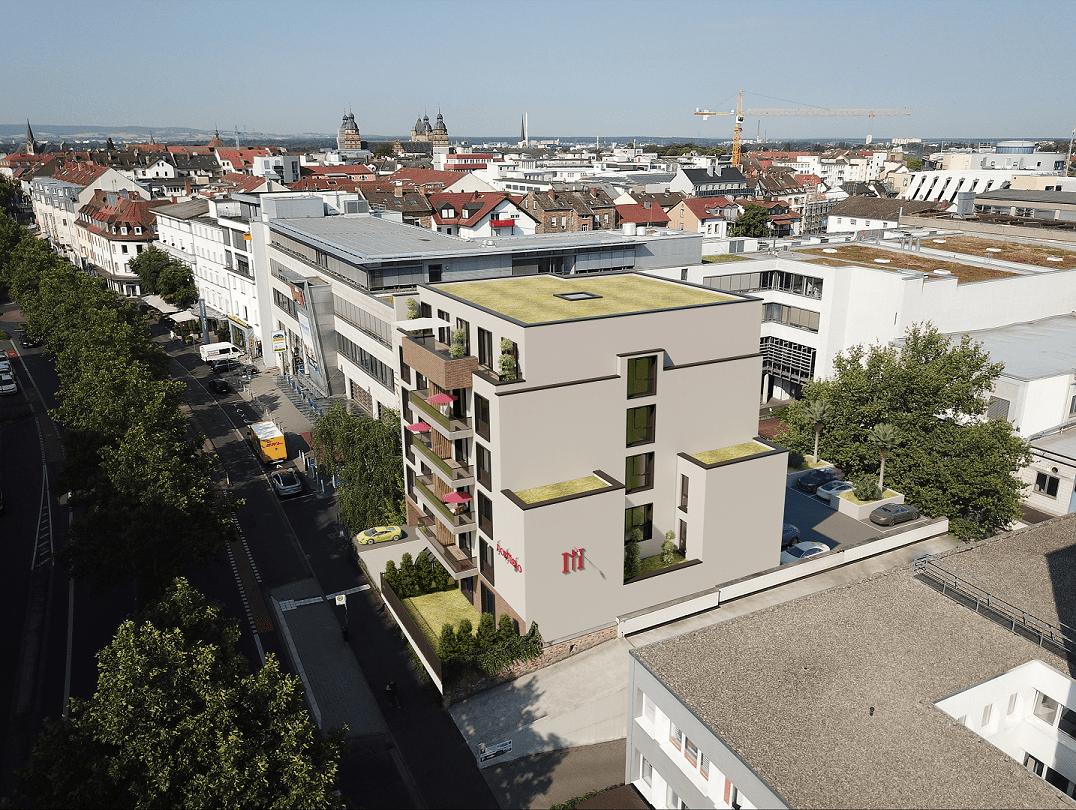 Hotel Neubau Rendering