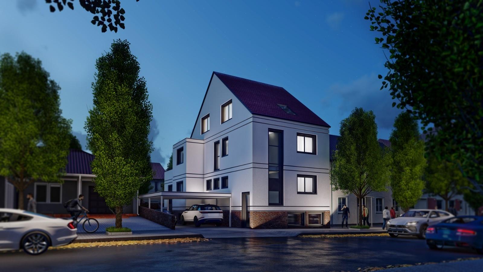 Nachtversion Neubau Schweinheim